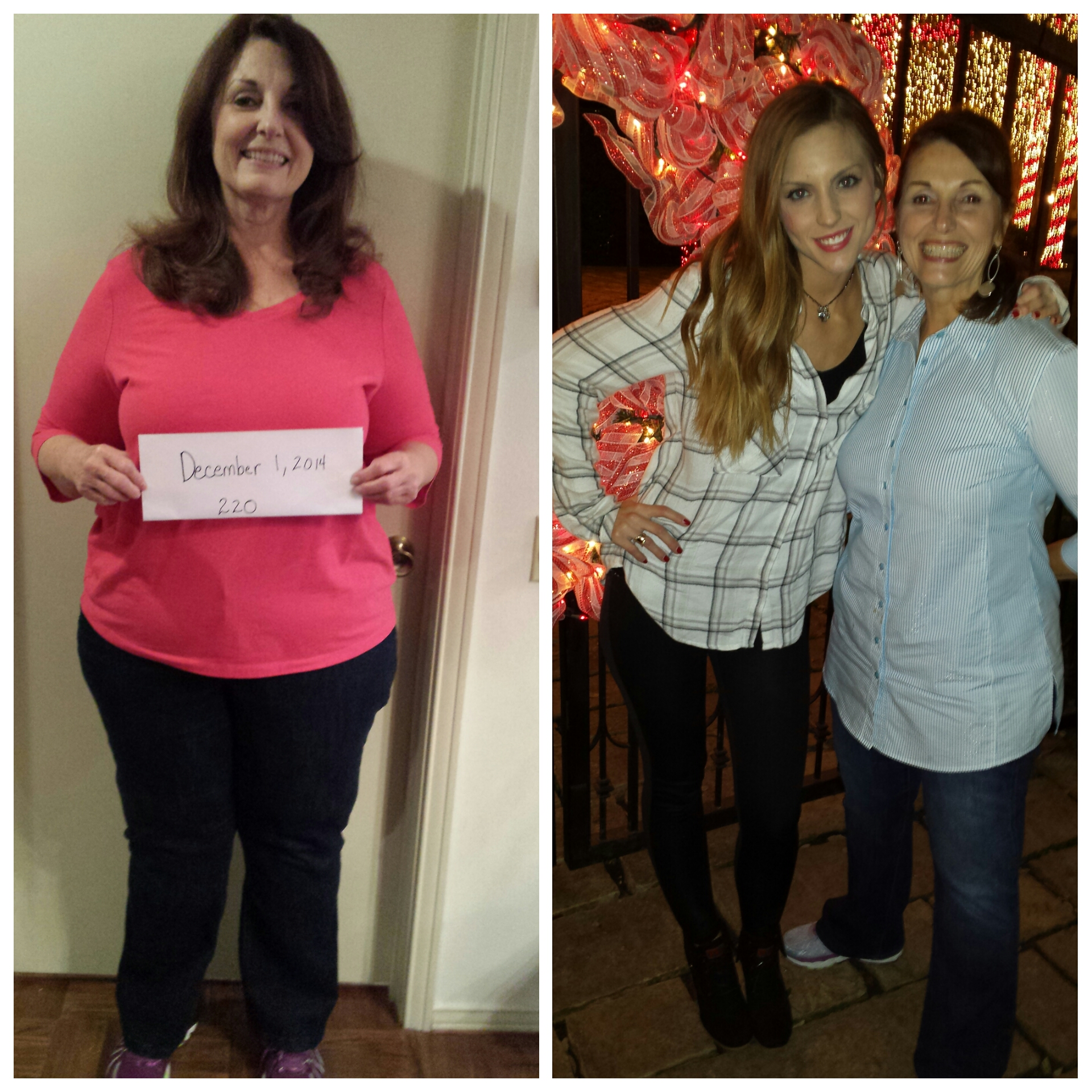 Debbie first fat pic with Christmas 2015 picture