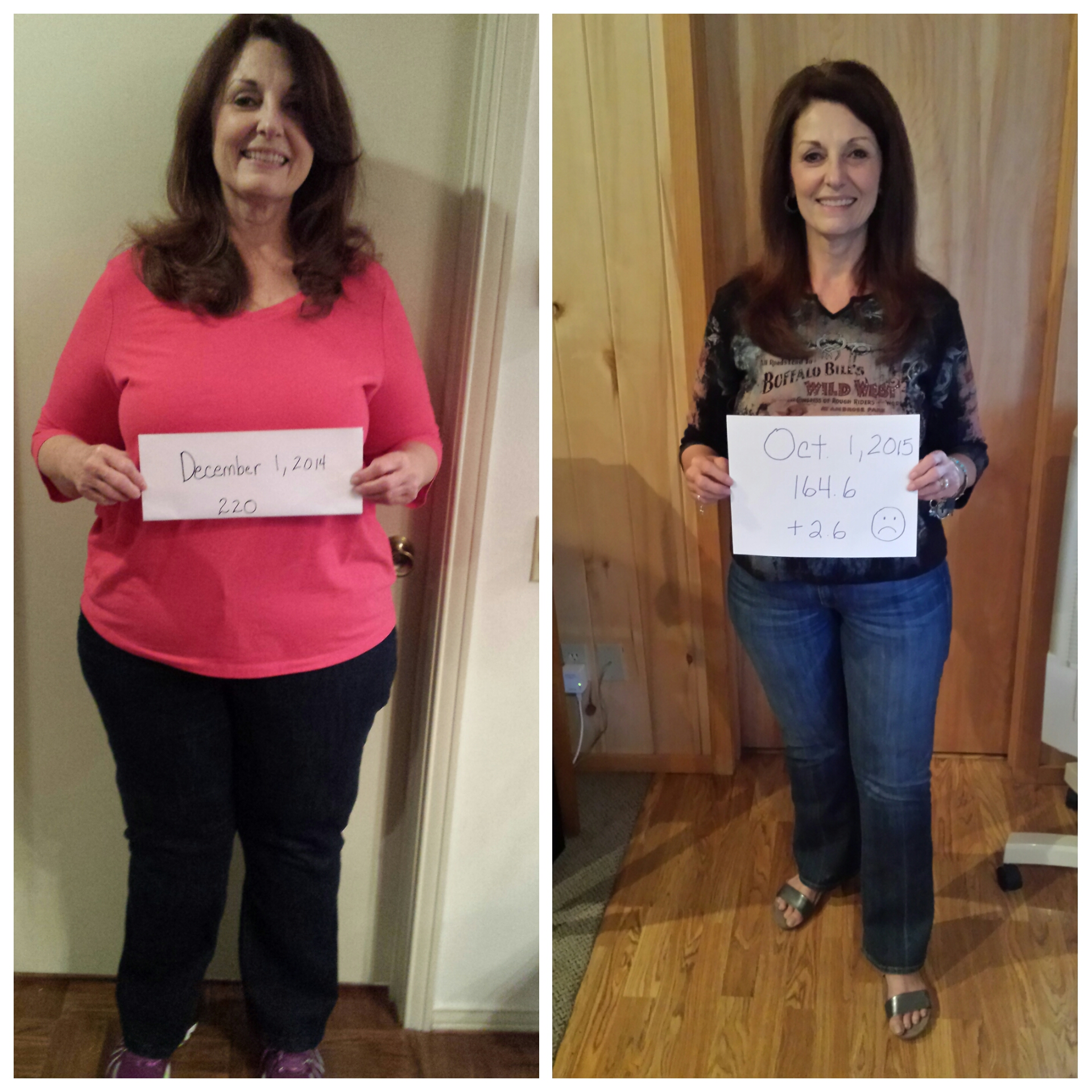 debbie comparison first fat pic with Oct pic