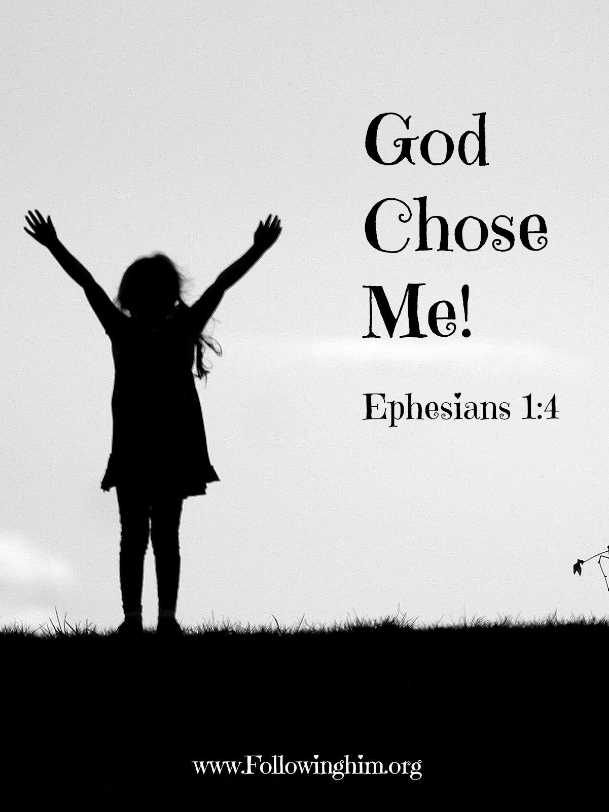 God chose me poster
